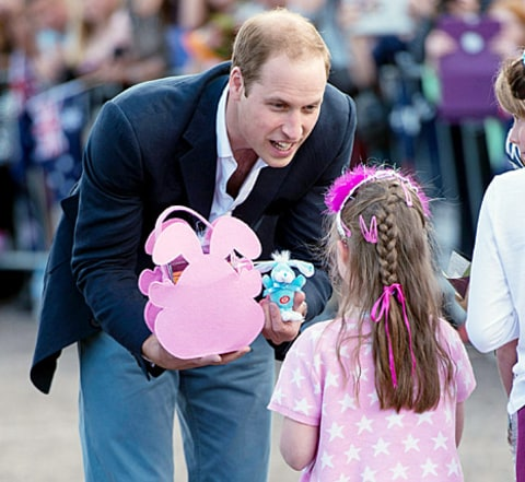 prince william with a gift