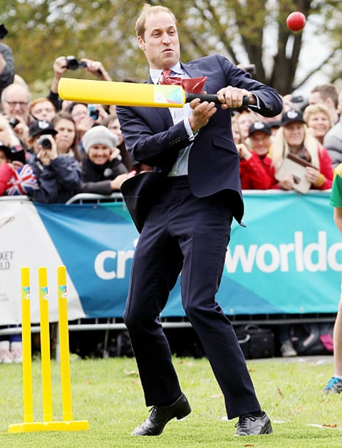 prince william playing cricket