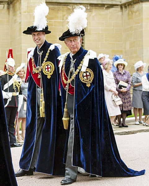 prince william and prince charles garter service