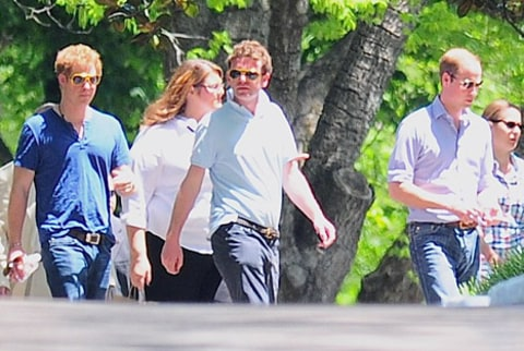 prince william and prince harry in graceland