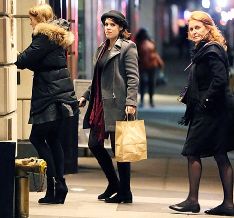 beatrice, eugenie and fergie in nyc