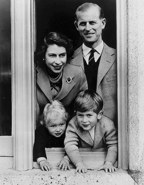 Prince charles, queen elizabeth, philip and anne