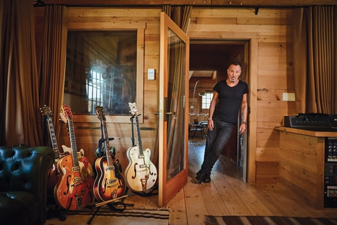 Springsteen at his home studio in New Jersey.