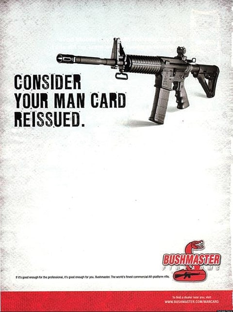 Gun-makers advertise the AR-15 as a symbol of manhood.