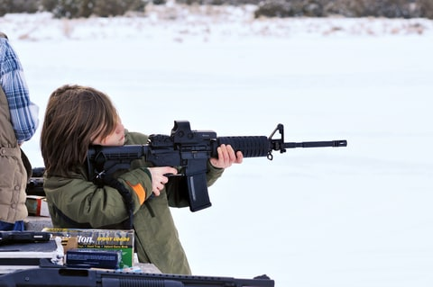 The NRA encourages parents to expose children as young as five to the AR-15.