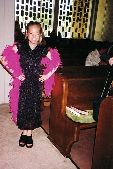 Age nine, posing for an early performance