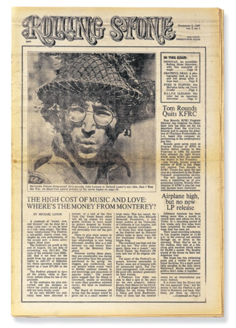 john lennon rolling stone cover first issue