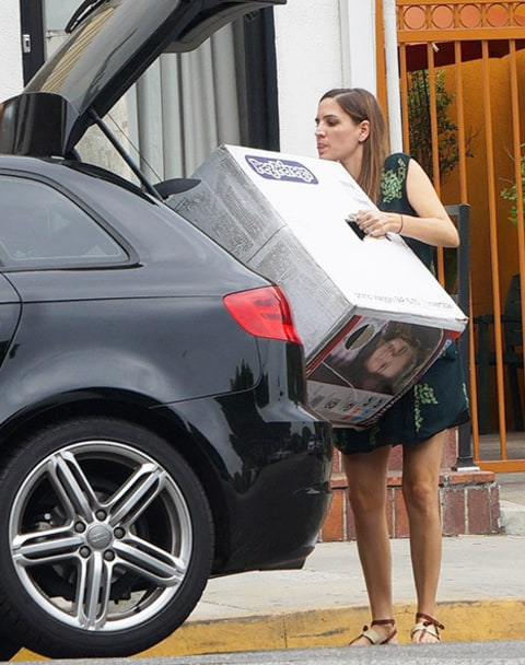 Rachel Bilson friend car seat