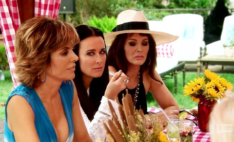 Lisa Rinna, Kyle Richards and Lisa Vanderpump