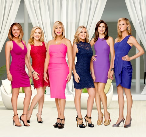 Kelly Dodd, Shannon Beador, Vicki Gunvalson, Tamra Barney, Heather Dubrow, and Meghan King Edmonds on The Real Housewives Of Orange County.