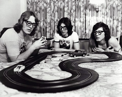 David Hanson, Steven Carlson, Jeff Carlson (as the Hanson Brothers) in 'Slap Shot.'