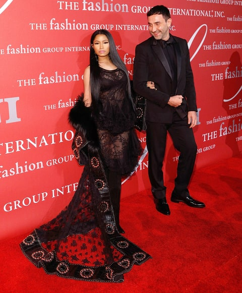 Nicki Minaj and Riccardo Tisci attend Fashion Group International's 2016 Night of Stars at Cipriani Wall Street on October 27, 2016 in New York City.