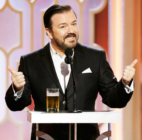 Ricky Gervais hosting the Golden Globes 2016