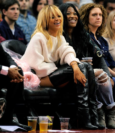 rihanna blonde hair