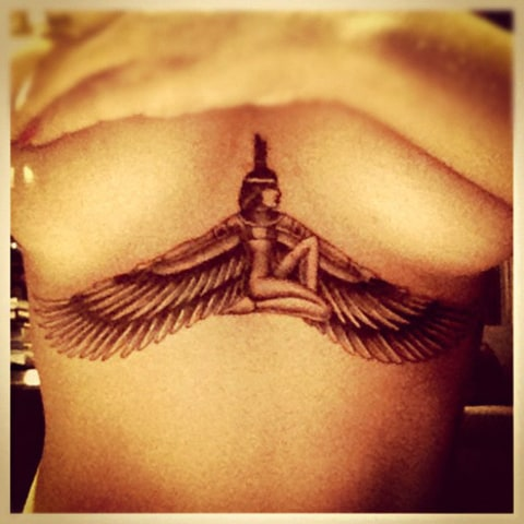 rihanna chest tattoo