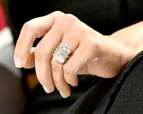 Kim Kardashian-West, wedding ring band detail, attends The Girls' Lounge dinner, giving visibility to women at Advertising Week 2016, at Pier 60 on September 27, 2016 in New York City.