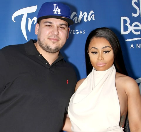 Rob Kardashian (L) and model Blac Chyna attend the Sky Beach Club at the Tropicana Las Vegas on May 28, 2016 in Las Vegas, Nevada.