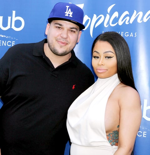 Rob Kardashian and Blac Chyna at Sky Beach Club at The Tropicana Hotel in May 2016.