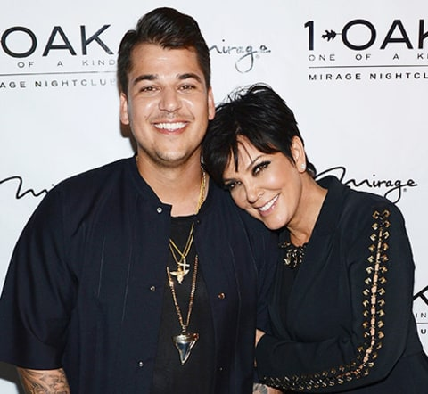 Rob Kardashian and Kris Jenner
