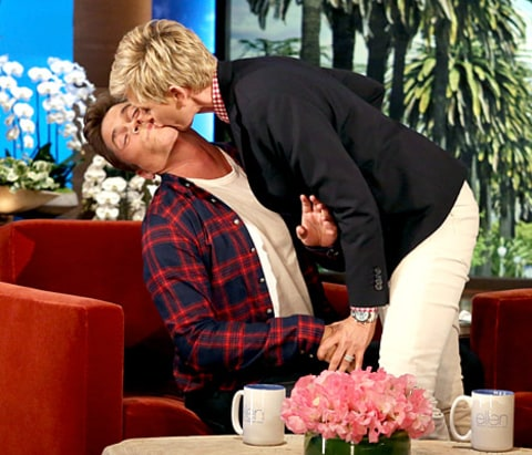 Rob Lowe and Ellen DeGeneres