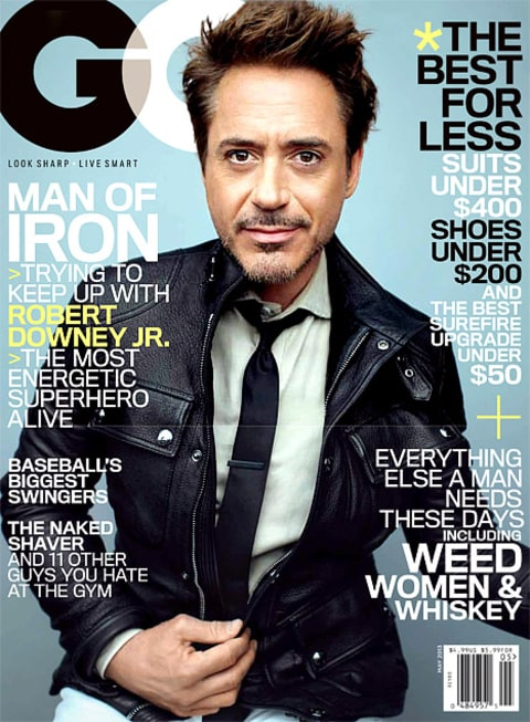 RDJ GQ cover