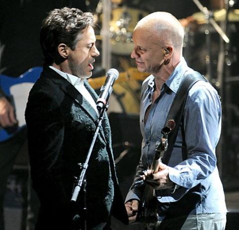 Robert Downey Jr. and Sting