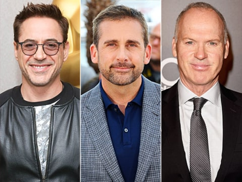 robert downey, steve carell and michael keaton