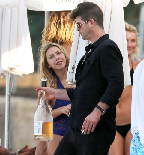 Robin Thicke at Nikki Beach.