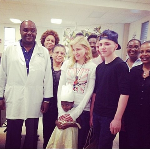 madonna and rocco in haiti