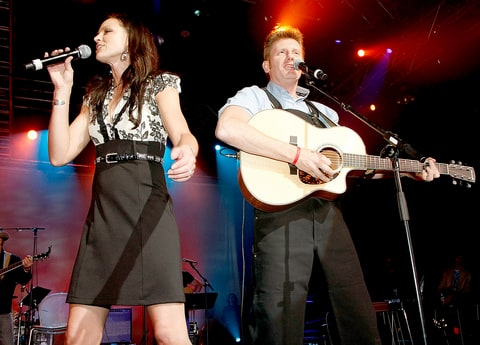 Joey and Rory Feek of Joey + Rory perform during the 44th Annual Academy of Country Music Awards All-Star Jam held at the MGM Grand on April 6, 2009.