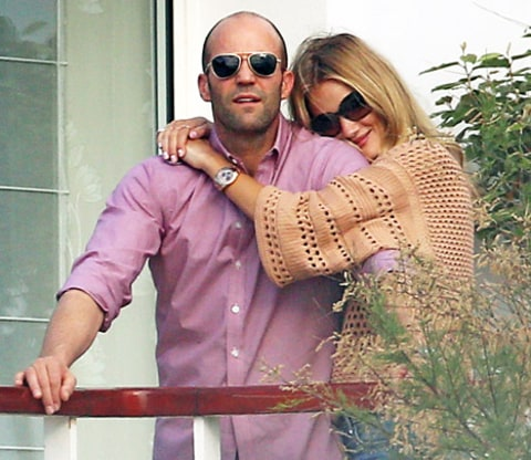 rosie huntington-whitely and jason statham