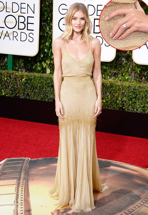 Rosie Huntington-Whiteley at the Golden Globes 2016