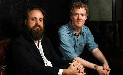 Sam Beam (a.k.a. Iron and Wine) and Glen Hansard play a private show in L.A. for KCRW.