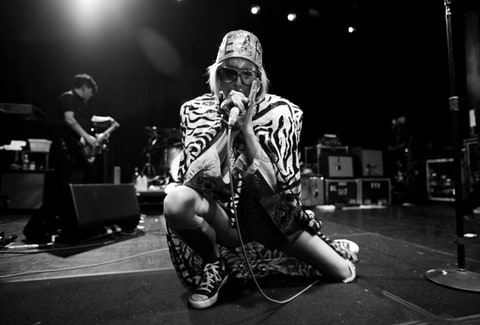 Karen O. of the Yeah Yeah Yeahs performs at Webster Hall in New York City on April 7th, 2013.