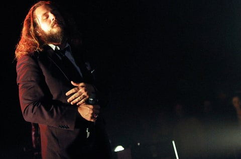 Jim James performs at Brown Theatre in Louisville, Kentucky.