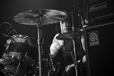 Marky Ramone performs at Santos Party House in New York.