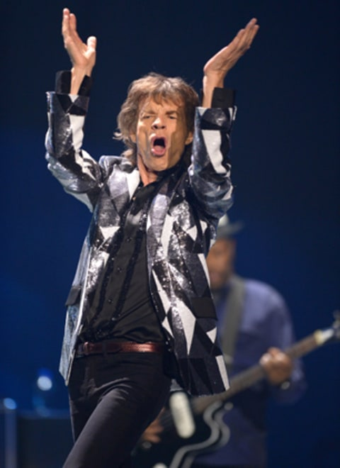 The Rolling Stones perform at the Staples Center launching of their '50 and Counting' Tour in Los Angeles.