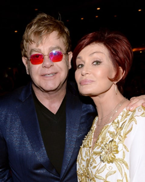 Elton John and Sharon Osbourne attend the 20th Annual Race To Erase MS Gala.