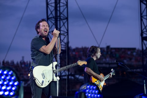 Pearl Jam perform at Wrigley Field in Chicago, IL