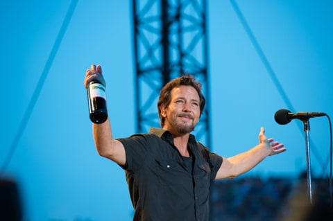 Eddie Vedder onstage at Wrigley Field.