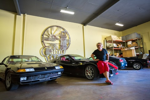 Sammy Hagar shows off some of his car collection.