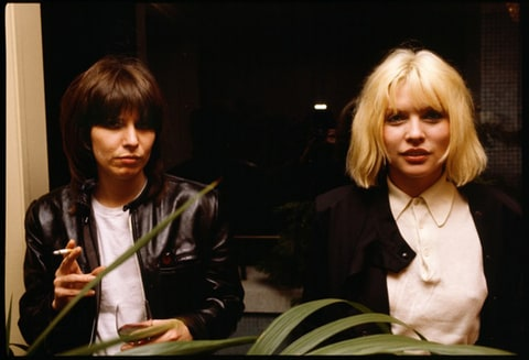 Chrissie Hynde and Debbie Harry