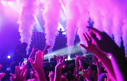 Calvin Harris performs during the 2013 Made in America Festival at Benjamin Franklin Parkway in Philadelphia.