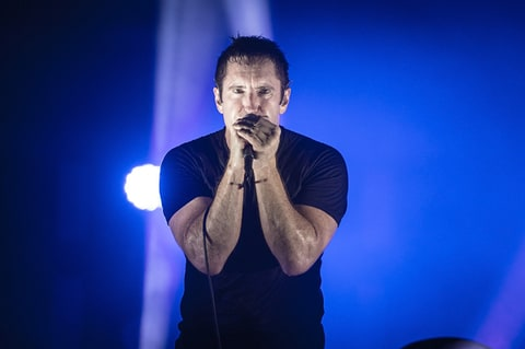 Trent Reznor from Nine Inch Nails performs in Saint-Cloud, France.