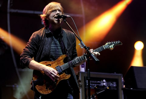 Trey Anastasio of Phish performs in Manchester, Tennessee.
