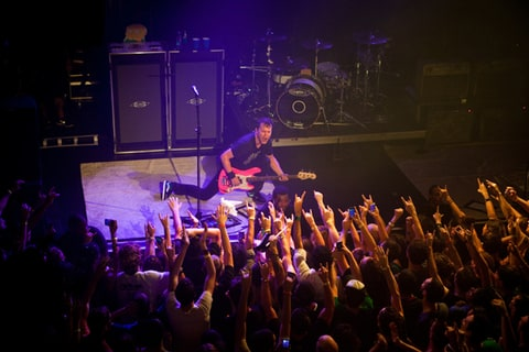 Blink-182 perform at Music Hall of Williamsburg in Brooklyn, New York.