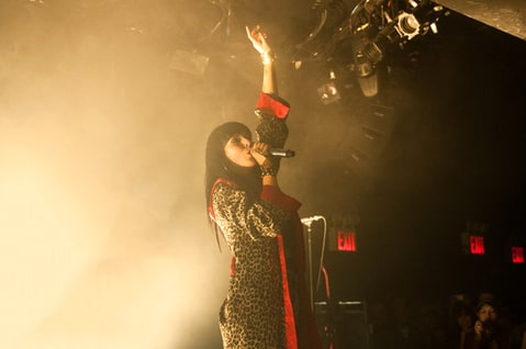 Sleigh Bells perform during their record release show at (le) poisson rouge.