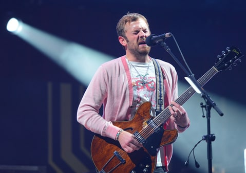 Caleb Followill of Kings of Leon performs during The 24th Annual KROQ Almost Acoustic Christmas.