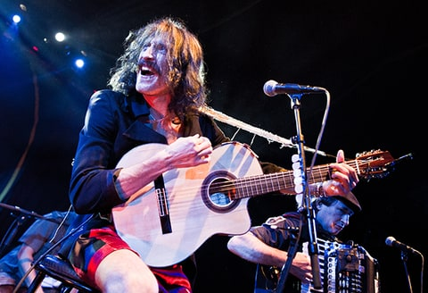 Eugene Hutz of Gogol Bordello performs in Paris.