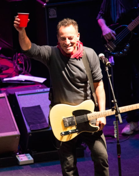 Bruce Springsteen performs at the Light of Day Concert in Asbury Park, New Jersey.